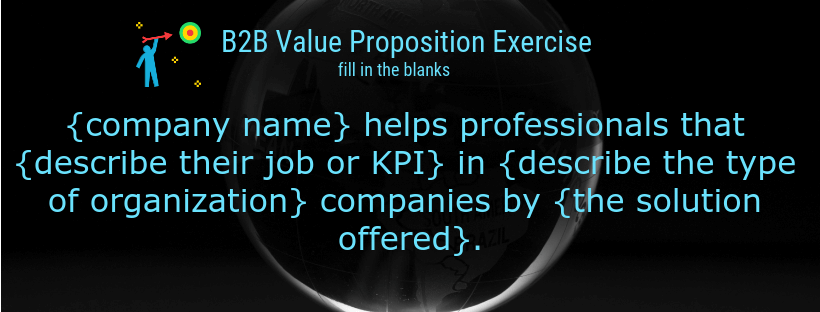 b2b value proposition  exercise